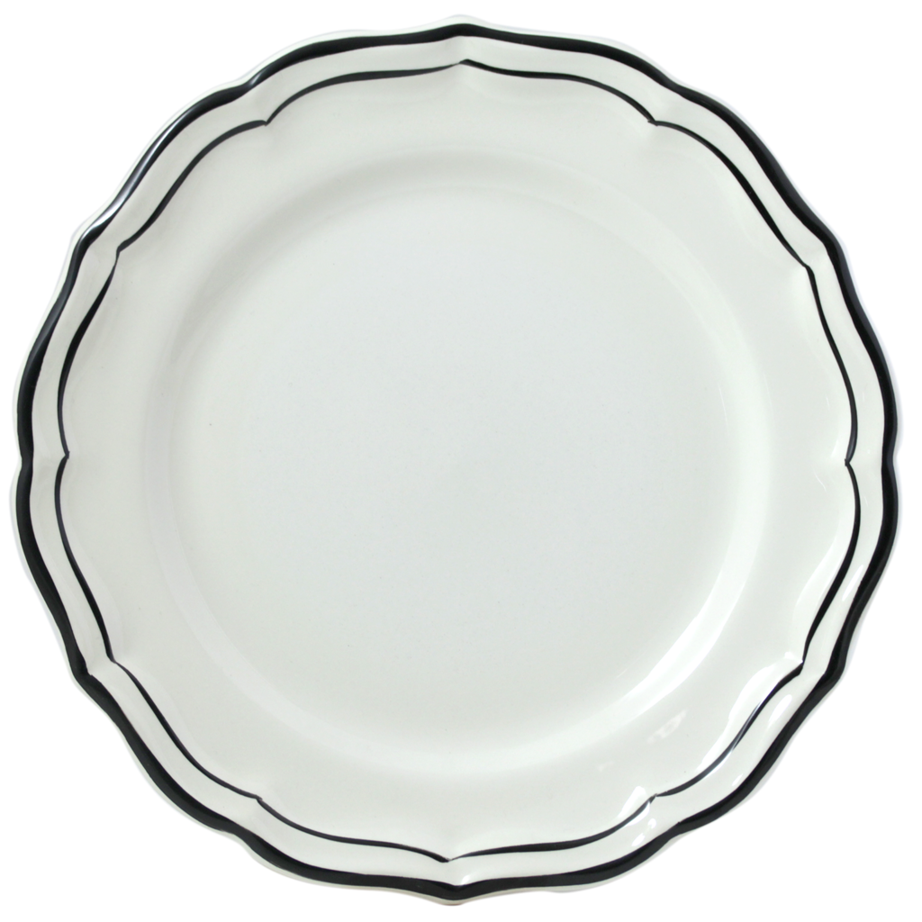 6 Assiettes plates FILET MANGANESE diametre 26.5 cm