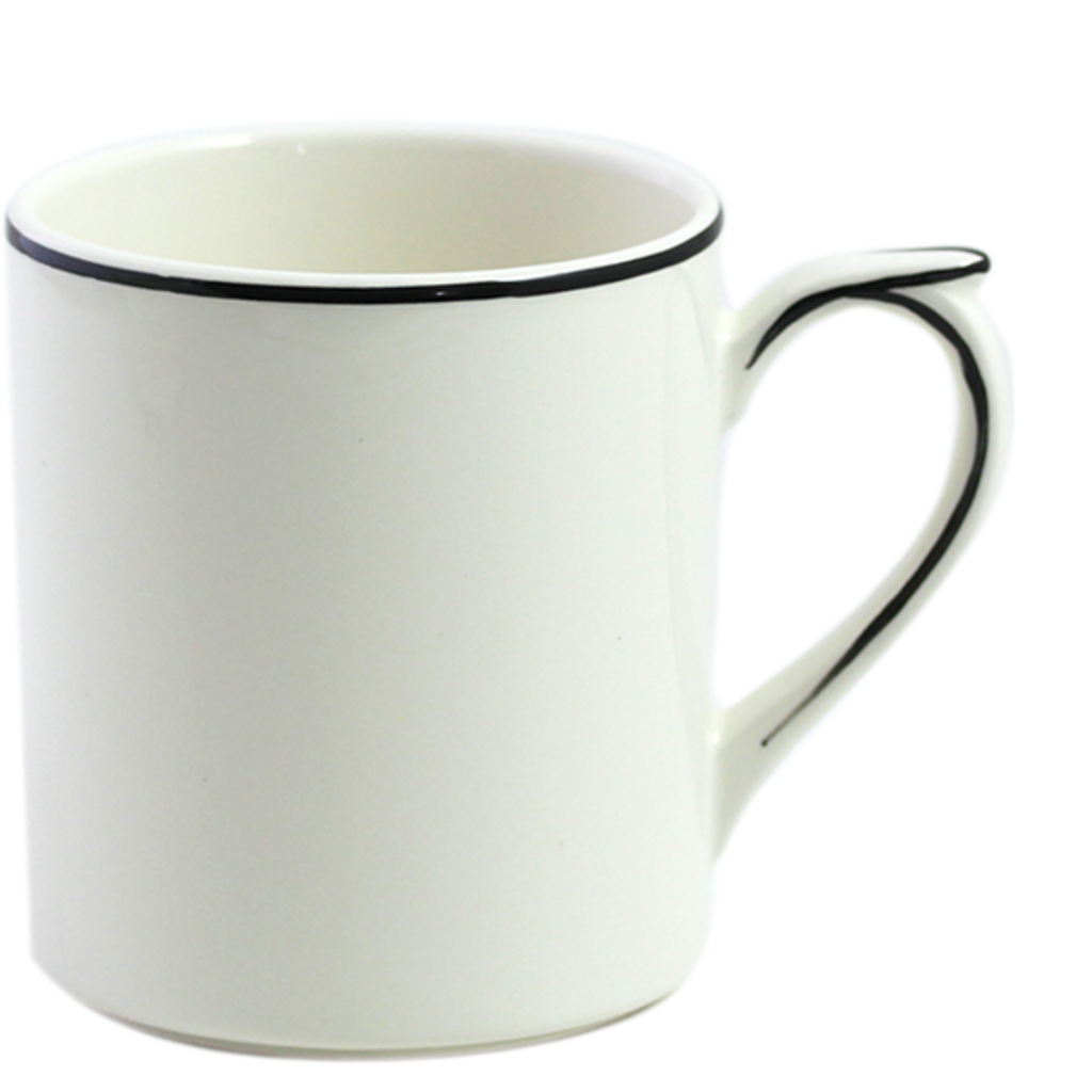 Mug FILET MANGANESE 25cl H 9.5 cm