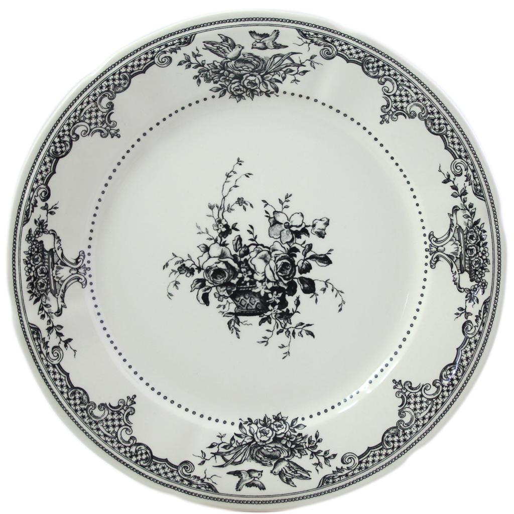 6 Assiettes plates LES FLEURS COLLECTION LES DEPAREILLEES diam 27.4 cm