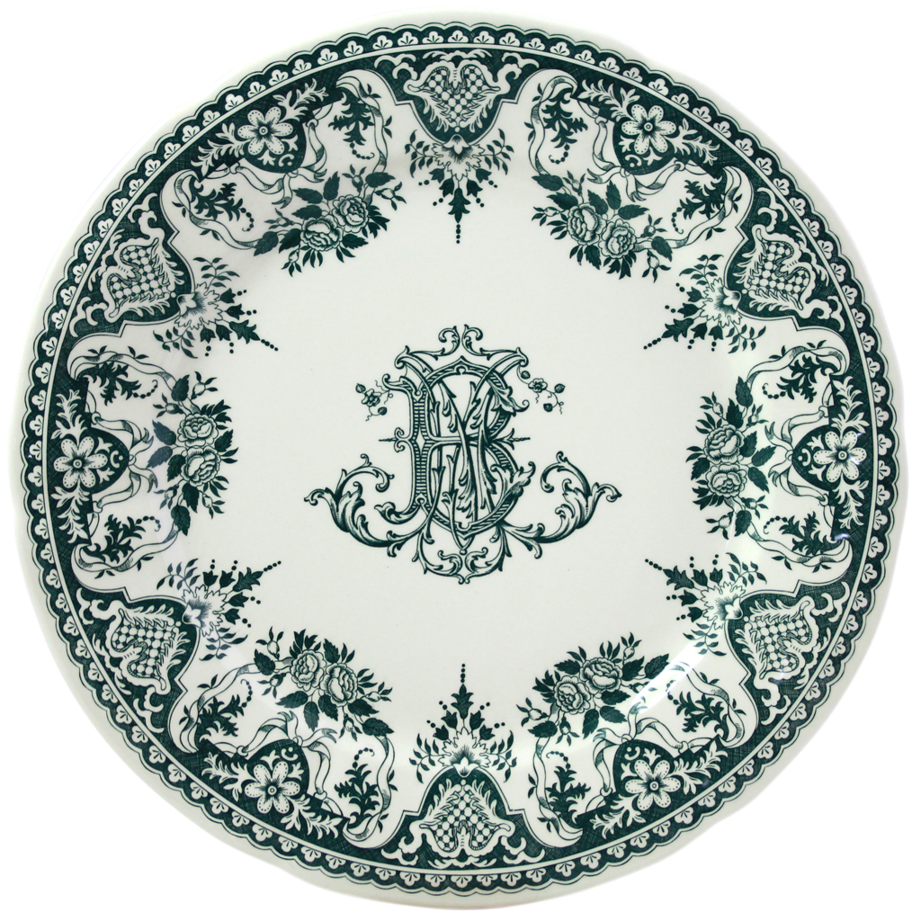 6 Assiettes plates MONOGRAMME COLLECTION LES DEPAREILLEES diam 27.4 cm