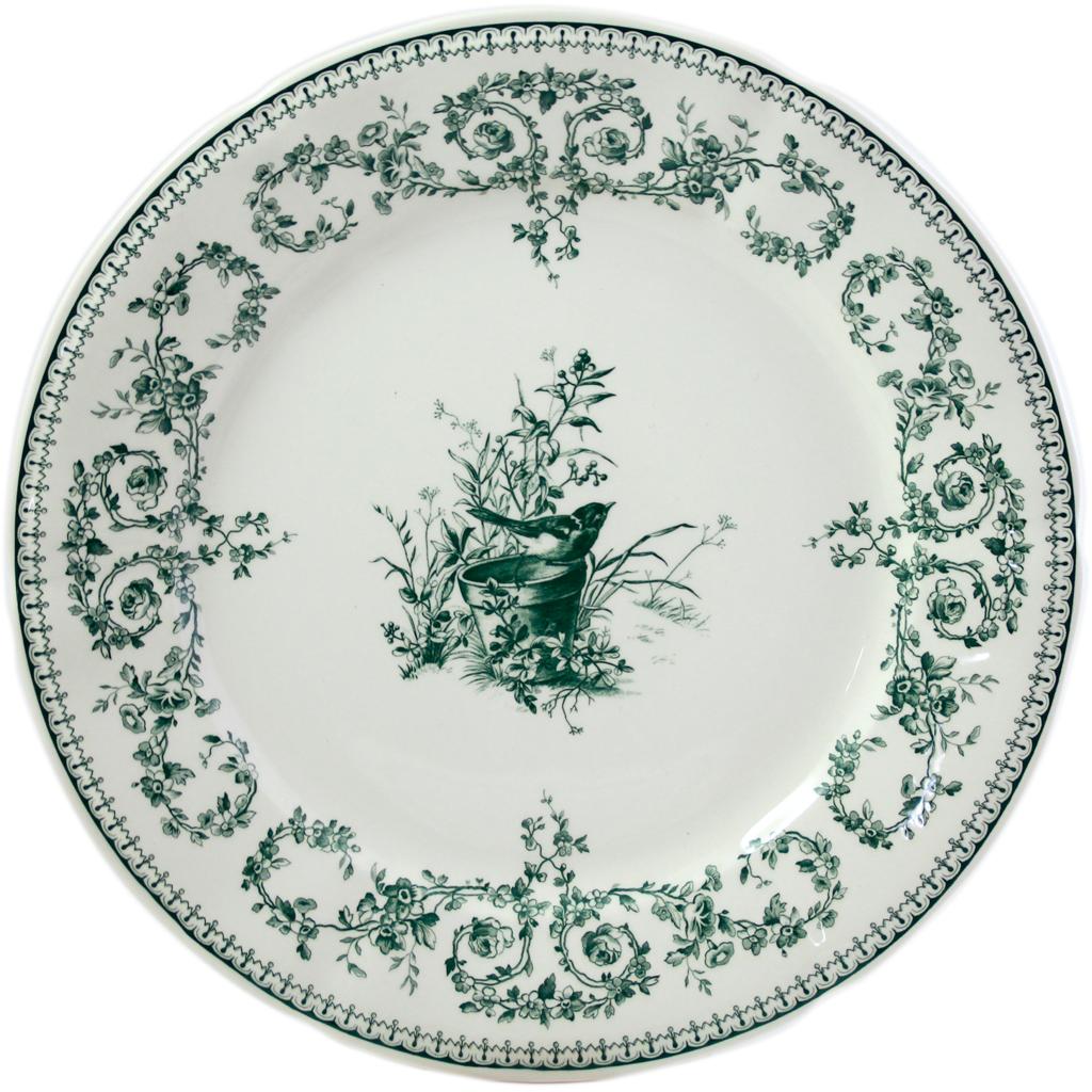 6 Assiettes plates OISEAU COLLECTION LES DEPAREILLEES diam 27.4 cm