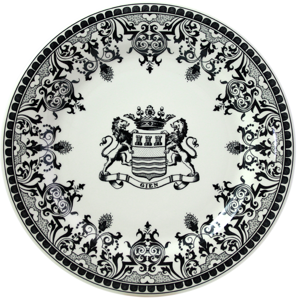 6 Assiettes plates BLASON COLLECTION LES DEPAREILLEES diam 27.4 cm