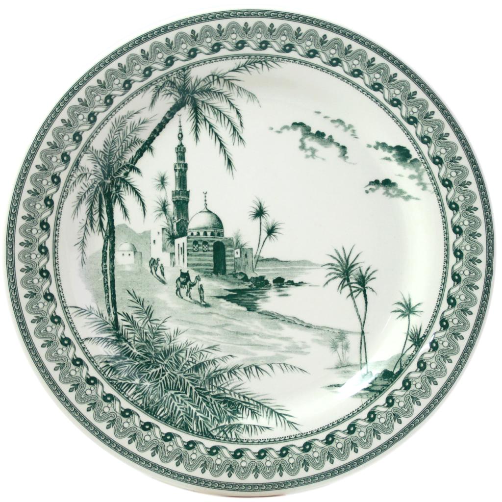 6 Assiettes plates VUES D ORIENT COLLECTION LES DEPAREILLEES diam 27.4 cm