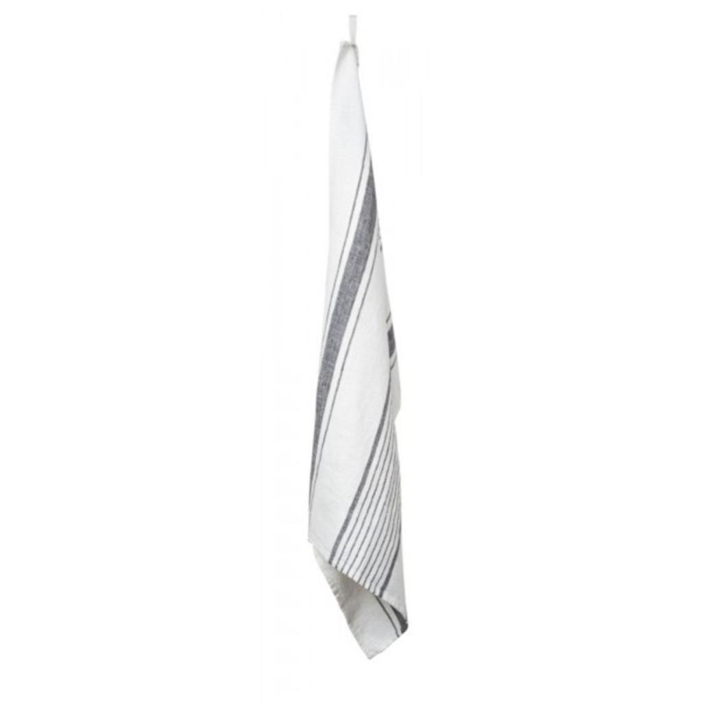 TORCHON AUBAGNE BLANC  46 X 70cm  ( Les 3 pièces )