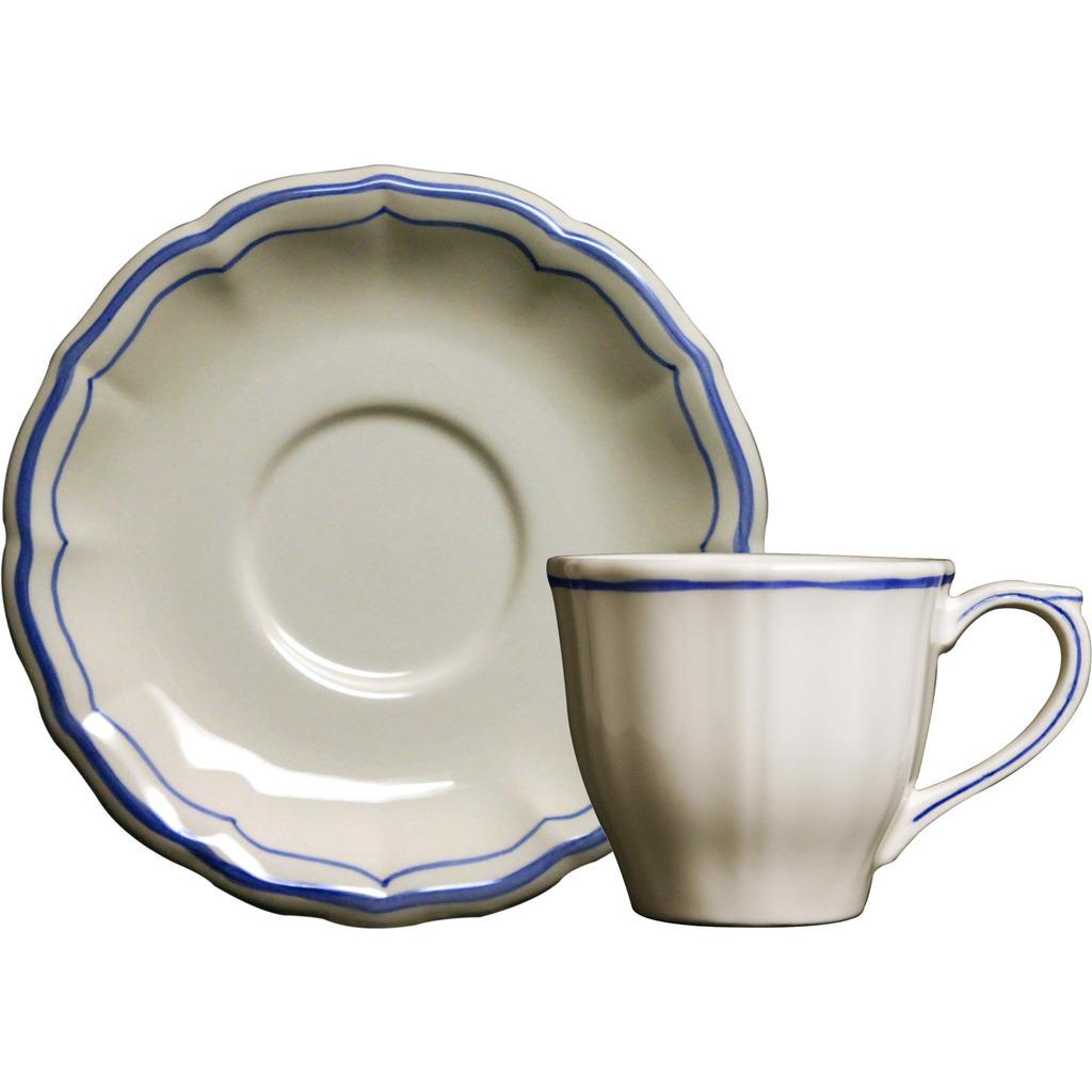 2 tasses et soucoupes the FILET BLEU diam 14.5 cm H 7.5 cm