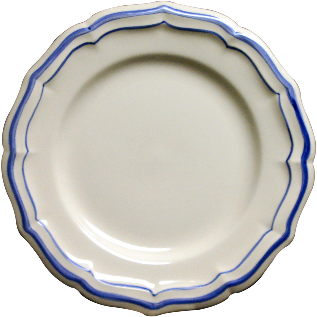 6 Assiettes plates FILET BLEU diametre 26.5 cm