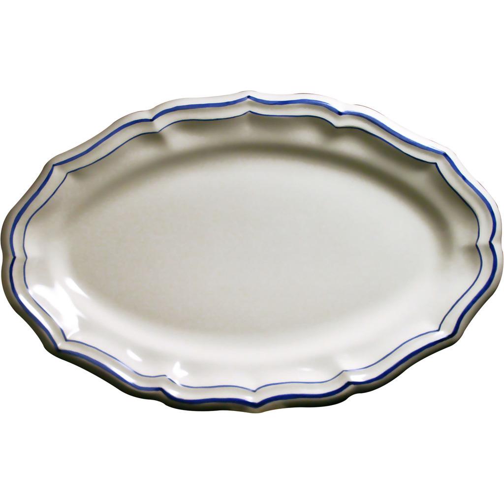 Plat ovale FILET BLEU 41*26.2 cm