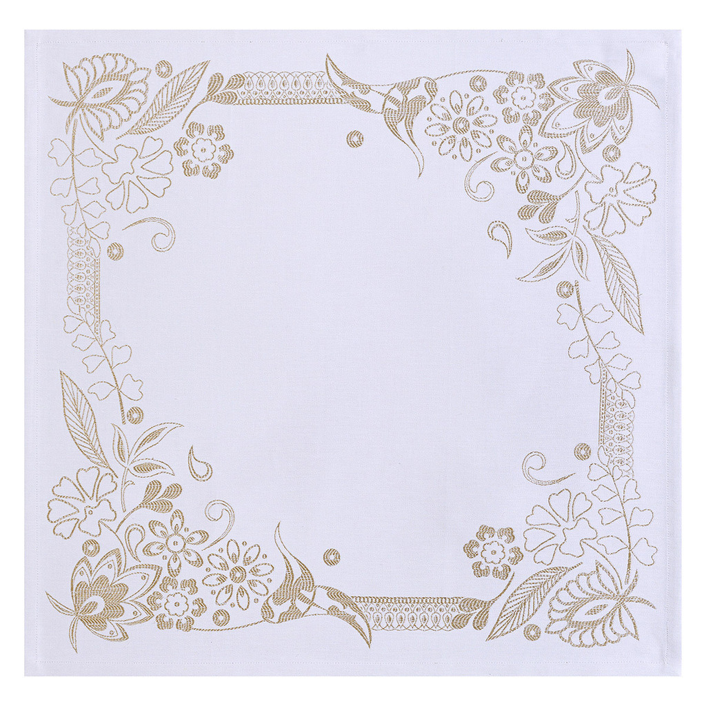 Lot de 4 SERVIETTES 58*58 cm HAUTE COUTURE