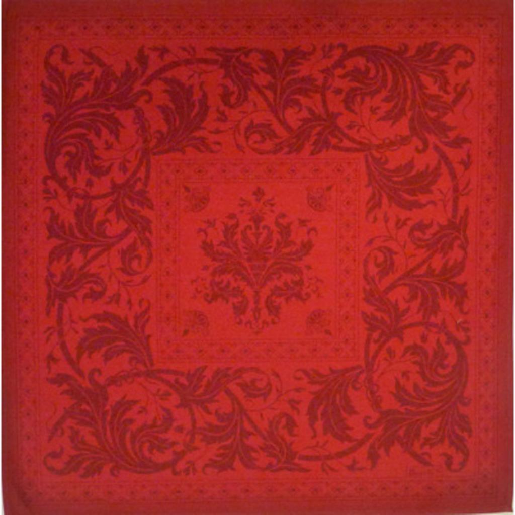 Serviette Topkapi  Rouge  55*55