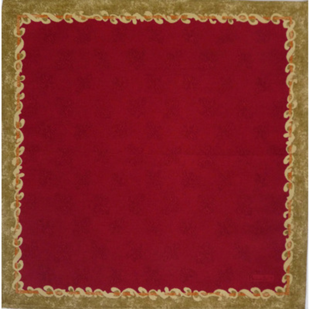 Serviette Ponte Vecchio Fonds Rouge 52*52