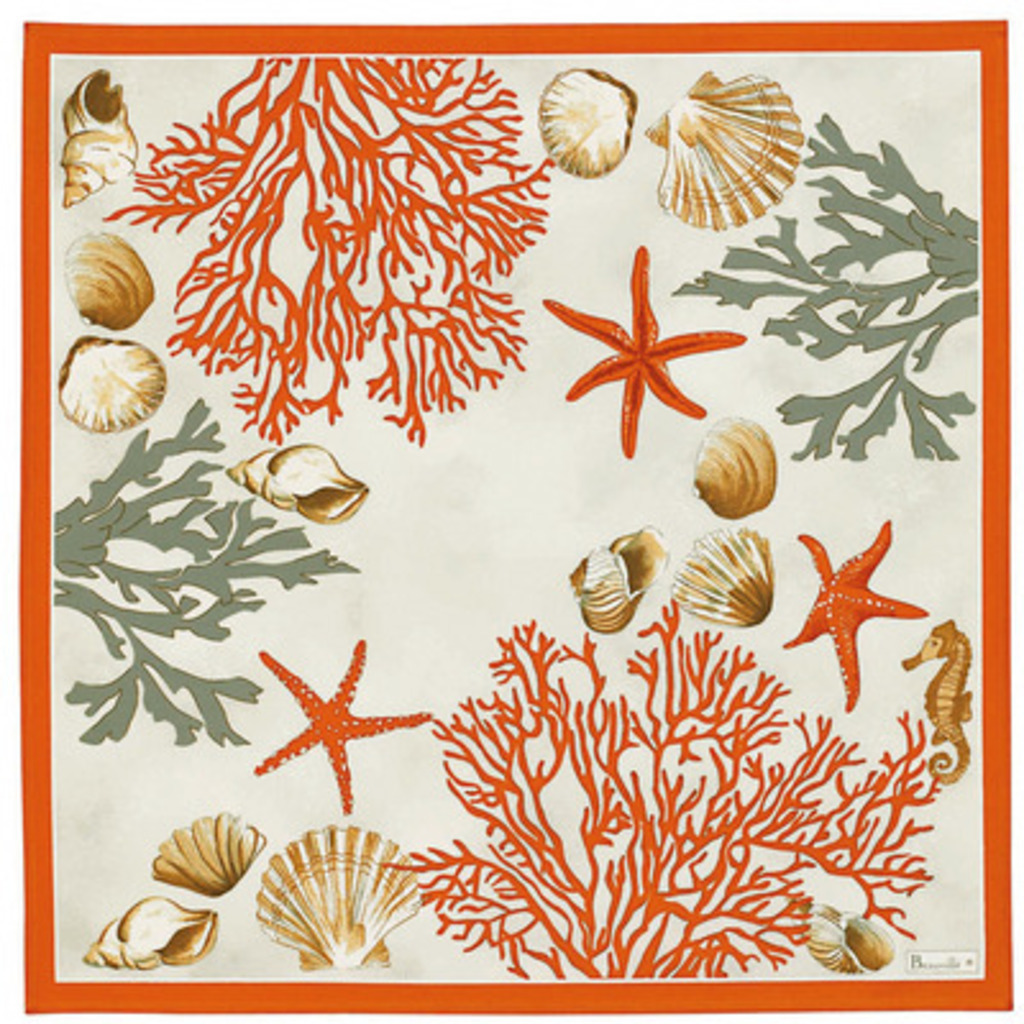 Serviette Corail rouge 52*52