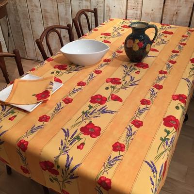 nappes proven ales en coton enduit linges de table par frenchictoyou. Black Bedroom Furniture Sets. Home Design Ideas