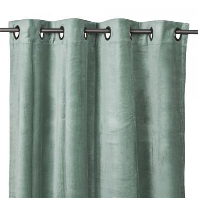 Rideaux en veloursDEHLI celadon 135*300cm