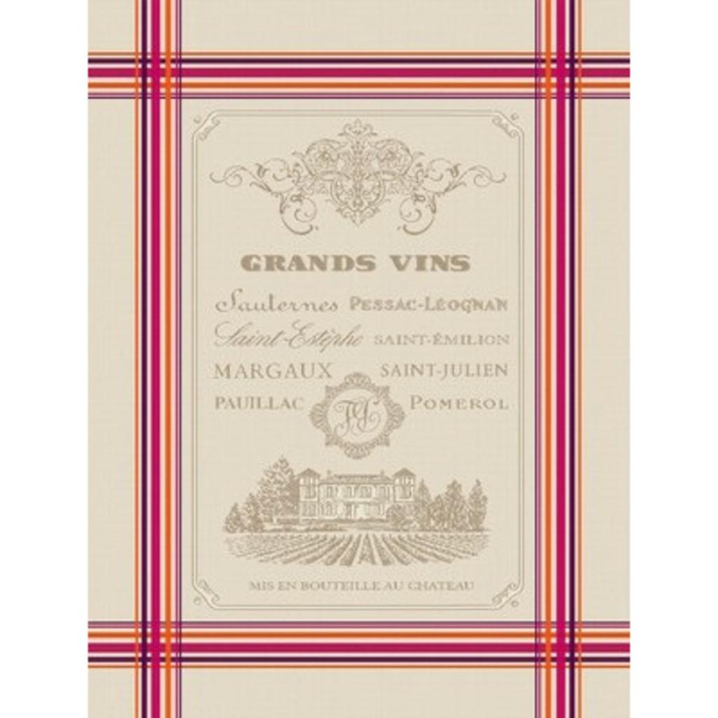 Torchon Grands Vins  50*70 cm