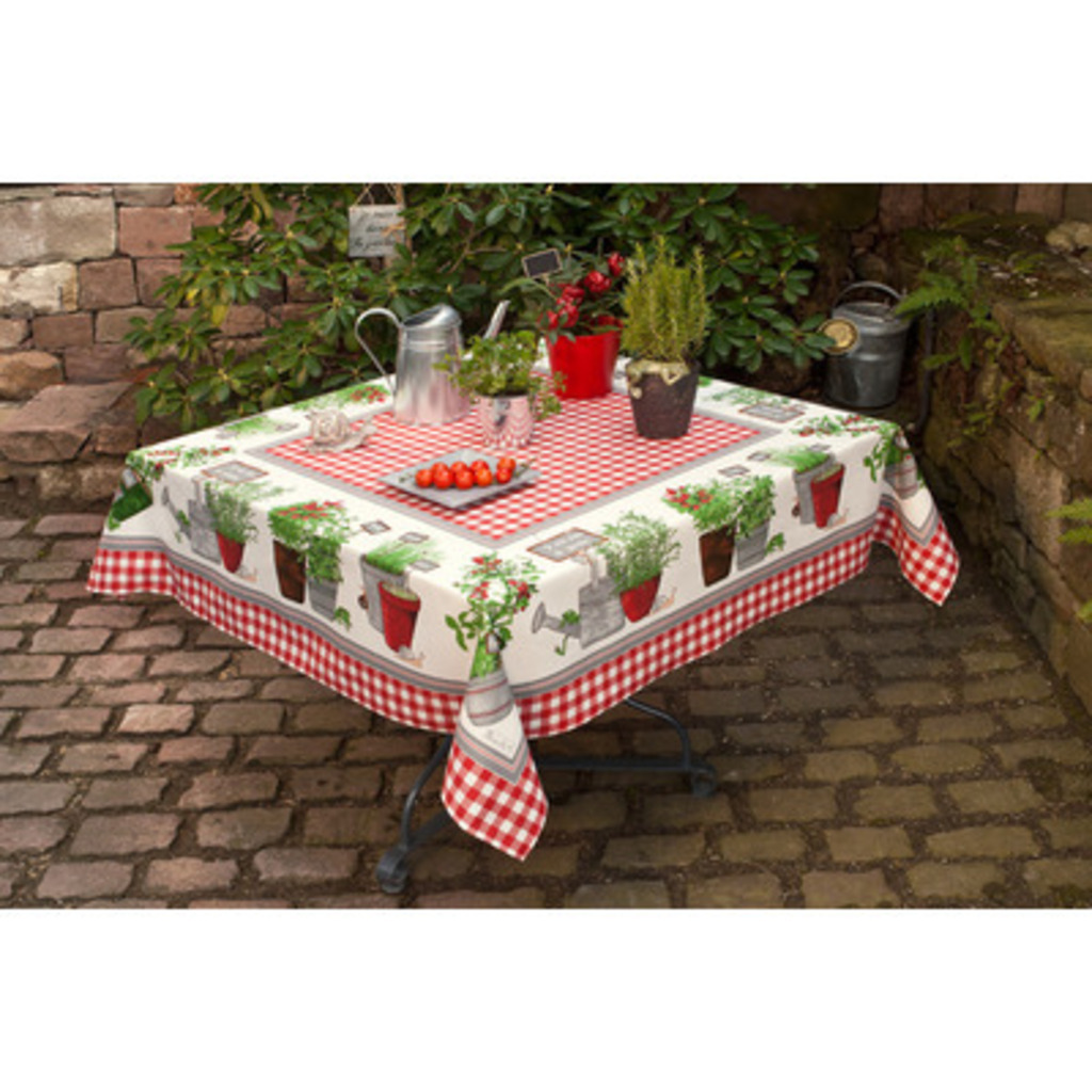 Nappe Potager rouge