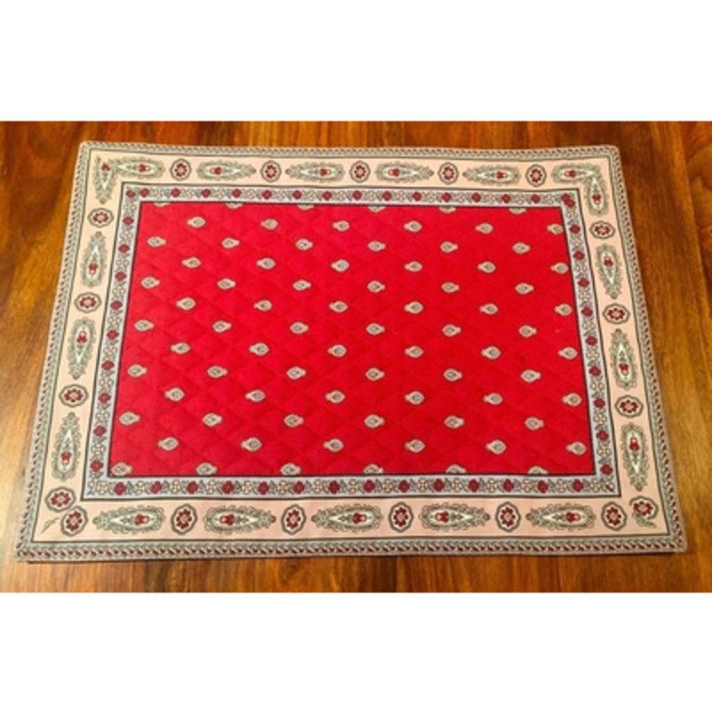 Set Coton  Bastide B Rouge 48 * 35 cm