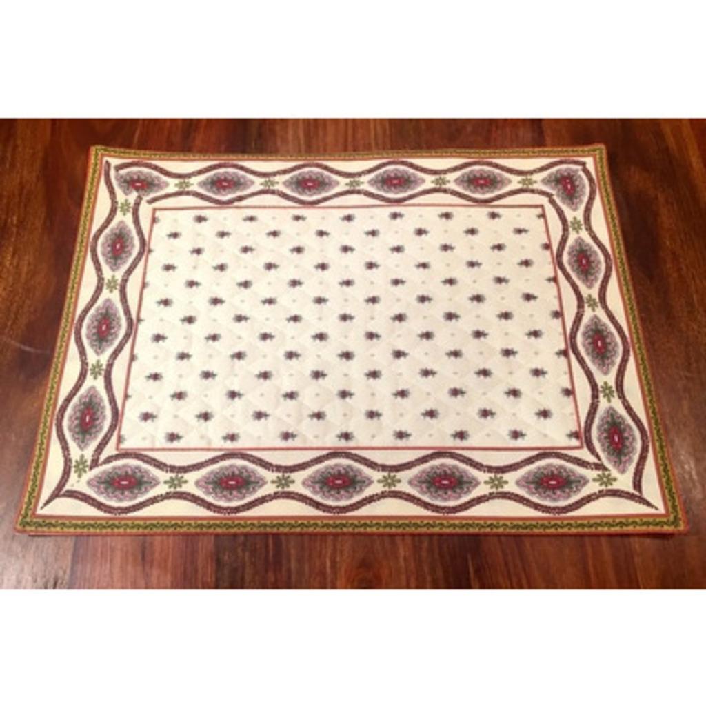 Set Coton  E Guirlande Ivoire 48 * 35 cm