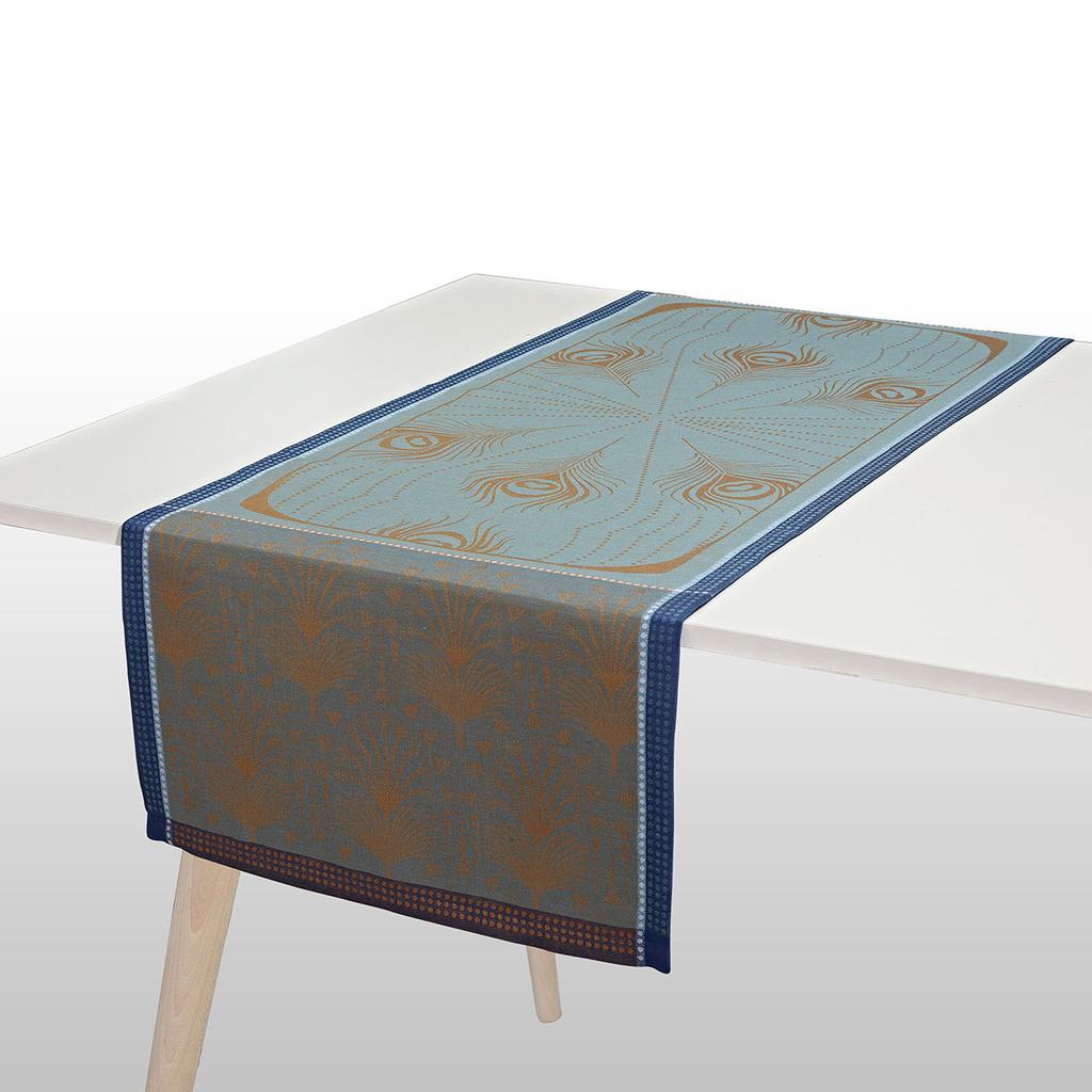 CHEMIN DE TABLE CABARET PAON 55*150 cm/22*59 inches