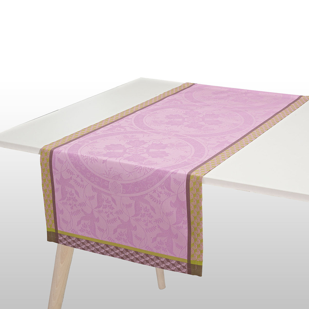 CHEMIN DE TABLE DUCHESSE PIVOINE 55*150 cm/22*59 inches